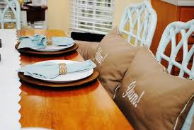 kitchen chair covers and table with blue color u2014 desjar interior