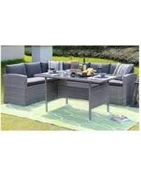 Wicker Table L Great Deals On Homewell Outdoor Wicker Dining Set With L Shaped Sofa