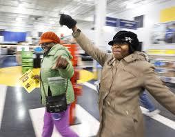 best black friday flooring deals black friday shoppers brave cold lines for deals portland