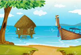 boat house clipart nipa hut pencil and in color boat house