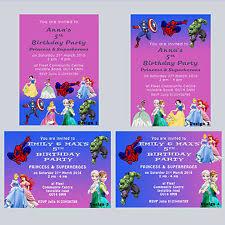 princess fairies theme invitation ebay