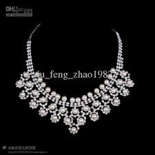 beautiful necklace images Cheap beautiful necklace bride pearl diamond set new wedding jpg