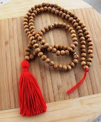 long wood bead necklace images Red tassel long tassel necklace mala yoga tassel necklace wooden jpg