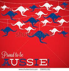 kangaroo ornament australia day card vector stock vector 358081169