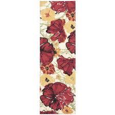 Floral Runner Rug Poppy Floral Runner Rug 2 6 X8 610113657