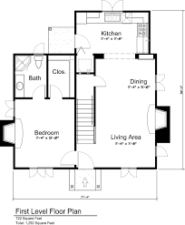 cottage style house plan 3 beds 2 00 baths 1292 sq ft plan 43
