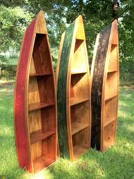Canoe Shaped Bookshelf Boat Bookshelf Bookcase Distressed Design Boat Shelf Canoe Shelves