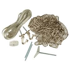 chain swag light kit shop portfolio 2 hook nickel metal swag light kit with chain and
