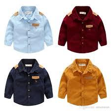christmas new kids boys fall corduroy shirts multi color blue red