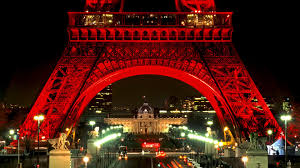 Beautiful Eiffel Tower by Monuments Eiffel Tower Romantic Travel Red Monument Beautiful