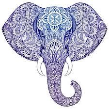 square canvas print blue white elephant elephant stuff