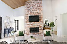 modern ranch reno how to re grout a brick fireplace classy clutter