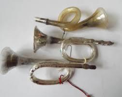 glass horn ornament etsy