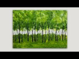 simple trees acrylic painting studiosilvercreek