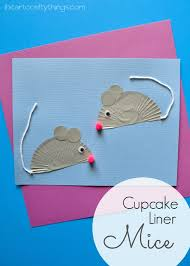 cupcake liner mouse kids craft cupcake liners mouse crafts and mice