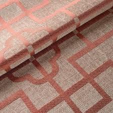 Geometric Orange Curtains Geometric Jacquard Linen Cotton Blend Custom Curtains