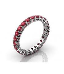 ruby eternity ring prong ruby eternity ring with open gallery 1 70 ct tw