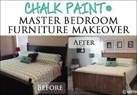Chalk Paint Master Bedroom Furniture Makeover Over The Big Moon - Colored bedroom furniture