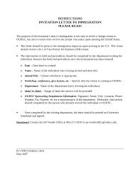 invitation letter sample letter of invitation template