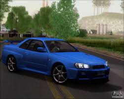 nissan skyline gt r r34 v spec ii for gta san andreas