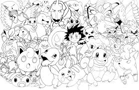 coloring page amazing all pokemon drawing 0 small coloring page