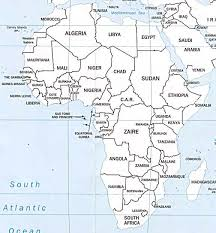 africa map countries and capitals maps of africa
