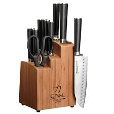 ginsu chikara 12 piece knife set cok kb ds 012 1 the home depot