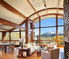 mountain home interior design ideas colorado mountain cabin perfectly frames views of mount wilson