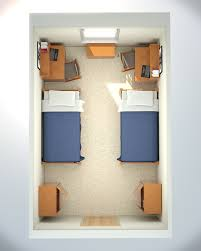 dorm layout creates a space for the desk area perhaps dorm