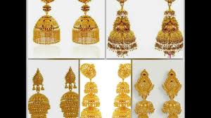 gold jhumka earrings gold jhumka designs beautiful gold earrings