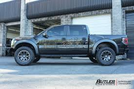 Ford Raptor Truck Black - ford raptor with 20in black rhino warlord wheels exclusively from