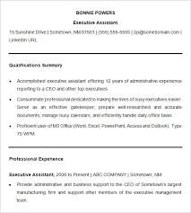Sample Resume Of Executive Assistant by 15 Business Resume Templates U2013 Free Samples Examples U0026 Formats