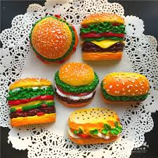 simulation 3d cuisine creative food shape fridge 3d magnets simulation hamburger