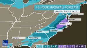 Snow Forecast Map Winter Storm Leon Snow And Ice Totals The Weather Channel