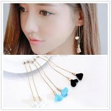 2018 gift gold plated korean needle chain dangle