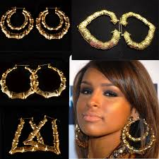 rihanna hoop earrings aliexpress buy hot rihanna basketball gold silver tone