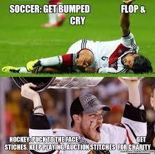 Soccer Hockey Meme - vs soccer