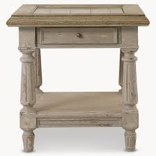 Grey Oak Furniture Woodcroft Colonial Grey Oak And Stone Top Side Table U2013 Handpicked