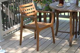 amazon com outdoor interiors stacking chairs brown set of 4