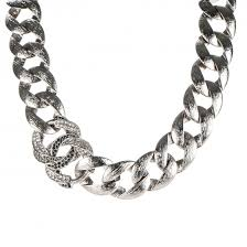 link choker necklace images Chanel crystal cc chain link choker necklace grey 182336 jpg