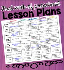 preschool is planning activities all about me lesson plan