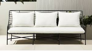 Outdoor Sofa Bed Breton Black Metal Sofa In Outdoor Furniture Reviews Cb2