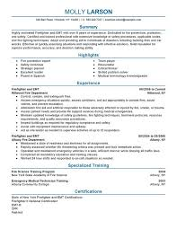 firefighter resume templates free paramedic examples emergency
