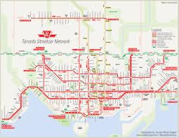 Yahoo Maps Com Straßenbahn Map Toronto Toronto Straßenbahn Map Kanada