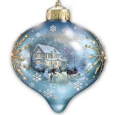 kinkade light up the season illuminated glass