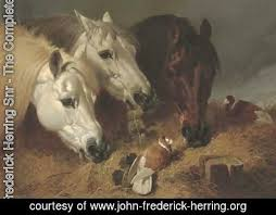 frederick herring snr the complete works horses feeding