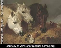 frederick herring snr the complete works horses feeding