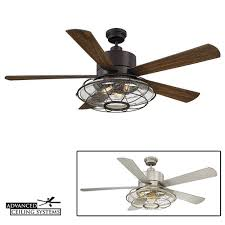Ceiling Fan With Cage Light 7 Rustic Industrial Ceiling Fans With Cage Lights You Ll
