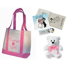 flower girl teddy buy flower girl gifts set tote bag teddy wedding day