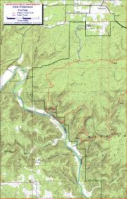 Little Creek Base Map Whites Creek Trail Irish Wilderness Missouri Free Detailed Topo Map